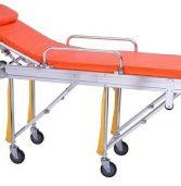 Caduta di paziente dalla lettiga durante il trasporto